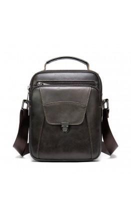 Коричневая мужская сумка в руку и на плечо Vintage 14996