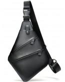 Фотография Черный кожаный мужской слинг Vintage 14997