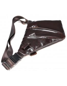 Коричневый кожаный мужской слинг Vintage 14998
