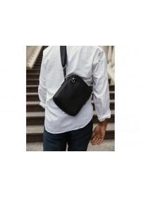 Черная мужская кожаная сумка Tiding Bag SM8-9686-4А