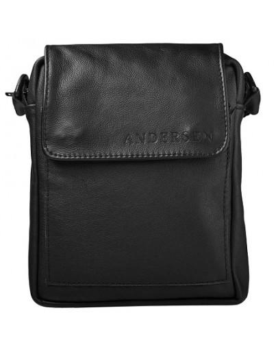 Фотография Мужская небольшая кожаная сумка на плечо Andersen 150522