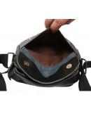 Фотография Повседневная мужская стильная кожаная сумка на плечо 7153 черная