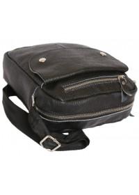 Повседневная мужская стильная кожаная сумка на плечо 7153 черная