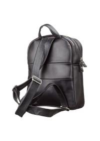 Черный женский удобный кожаный рюкзак SHVIGEL 15304