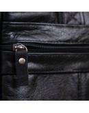 Фотография Черная мужская сумка из мягкой натуральной кожи SHVIGEL 15306