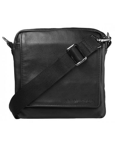 Фотография Мужская кожаная сумка на плечо Andersen 160522