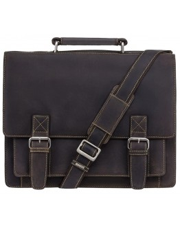 Деловой кожаный удобный портфель Visconti 16055XL Hercules (Oil Brown)
