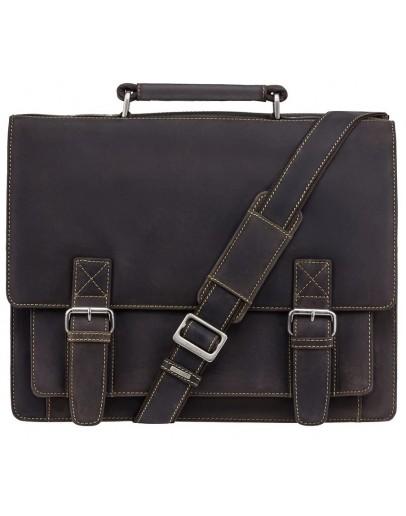 Фотография Деловой кожаный удобный портфель Visconti 16055XL Hercules (Oil Brown)