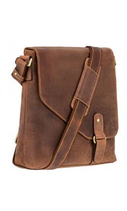 Коричневая удобная сумка мужская Visconti 16071 Aspin (Oil Tan)
