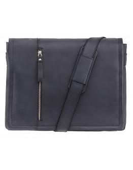 Черная большая сумка на плечо Visconti 16072 Foster (L) (Oil Black)
