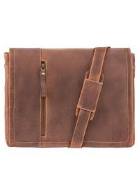 Коричневая винтажная сумка на плечо Visconti 16072 Foster (L) (Oil Tan)