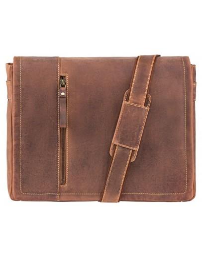 Фотография Коричневая винтажная сумка на плечо Visconti 16072 Foster (L) (Oil Tan)