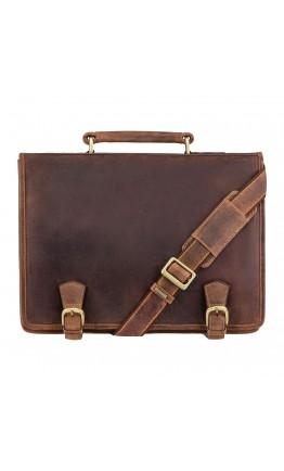 Удобный винтажный мужской портфель Visconti 16134 XL Hulk (Oil Tan)