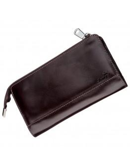 Мужской клатч коричневый кожаный SHVIGEL 16184