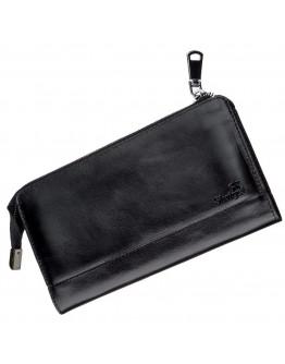 Мужской клатч черный кожаный SHVIGEL 16186
