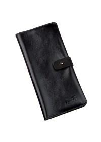 Кожаный мужской черный бумажник SHVIGEL 16204