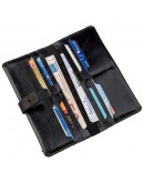 Фотография Кожаный мужской черный бумажник SHVIGEL 16204