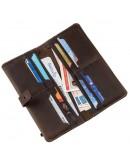 Фотография Кожаный мужской коричневый винтажный бумажник SHVIGEL 16207