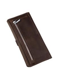 Кожаный мужской коричневый винтажный бумажник SHVIGEL 16207