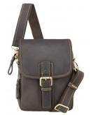 Фотография Темно-коричневая небольшая мужская сумка Visconti 16208 Jules (Oil Brown)