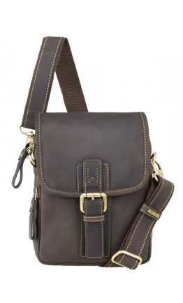 Темно-коричневая небольшая мужская сумка Visconti 16208 Jules (Oil Brown)
