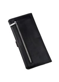 Кожаный мужской черный винтажный бумажник SHVIGEL 16209