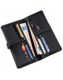 Фотография Кожаный мужской черный винтажный бумажник SHVIGEL 16209