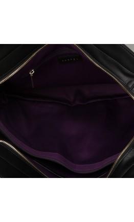 Сумка из натуральной кожи женская черная KARFEI 1710104-04A