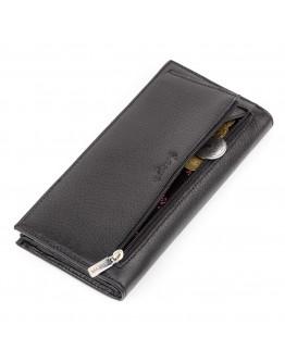 Кожаное черное мужское портмоне KARYA 17139