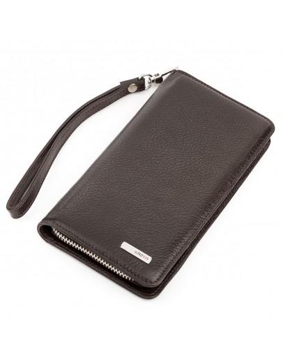 Фотография Мужской коричневый кожаный клатч KARYA 17142