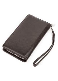 Мужской коричневый кожаный клатч KARYA 17142