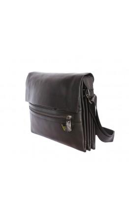 Классная классическая черная мужская сумка на плечо 7172
