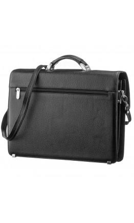 Кожаный мужской черный деловой портфель KARYA 17221