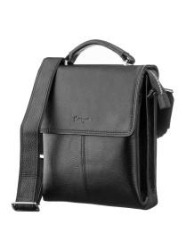 Мужская кожаная черная сумка - барсетка KARYA 17223