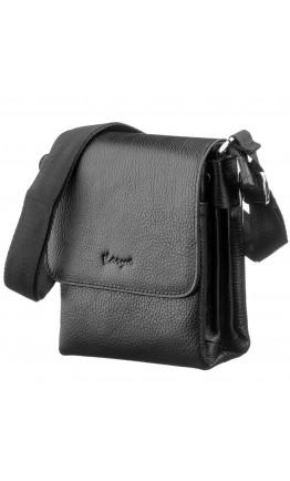 Мужская черная маленькая кожаная сумка KARYA 17226