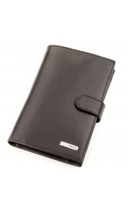 Кожаный мужской вместительный кошелек KARYA 17231