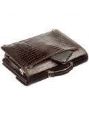 Фотография Коричневый кожаный портфель с тиснением KARYA 17270