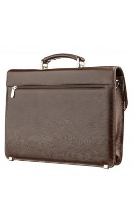 Коричневый кожаный мужской деловой портфель KARYA 17272