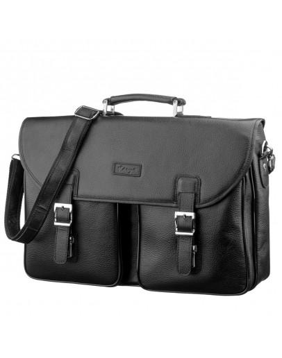 Фотография Мужской кожаный портфель - сумка для ноутбука KARYA 17275