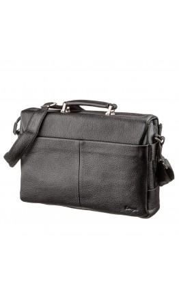 Мужской черный портфель небольшого размера Karya 17283