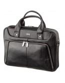 Фотография Черная мужская деловая кожаная фирменная сумка KARYA 17285