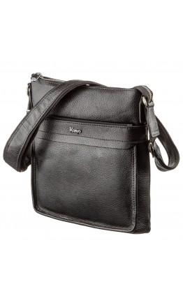 Мужская сумка-планшет черная кожаная KARYA 17288