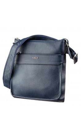 Мужская сумка-планшет синяя кожаная KARYA 17289