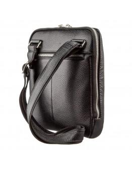 Черная мужская кожаная сумка - планшет KARYA 17290