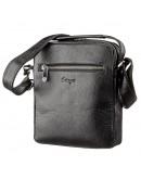 Фотография Мужская кожаная черная сумка - барсетка KARYA 17293