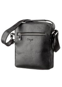 Мужская кожаная черная сумка - барсетка KARYA 17293