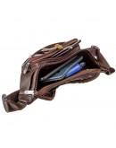 Фотография Мужская коричневая фирменная сумка на пояс KARYA 17297
