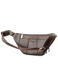 Мужская коричневая фирменная сумка на пояс KARYA 17297