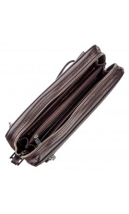 Фирменный коричневый мужской клатч KARYA 17351