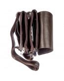 Фотография Вертикальная коричневая барсетка-сумка на плечо KARYA 17362